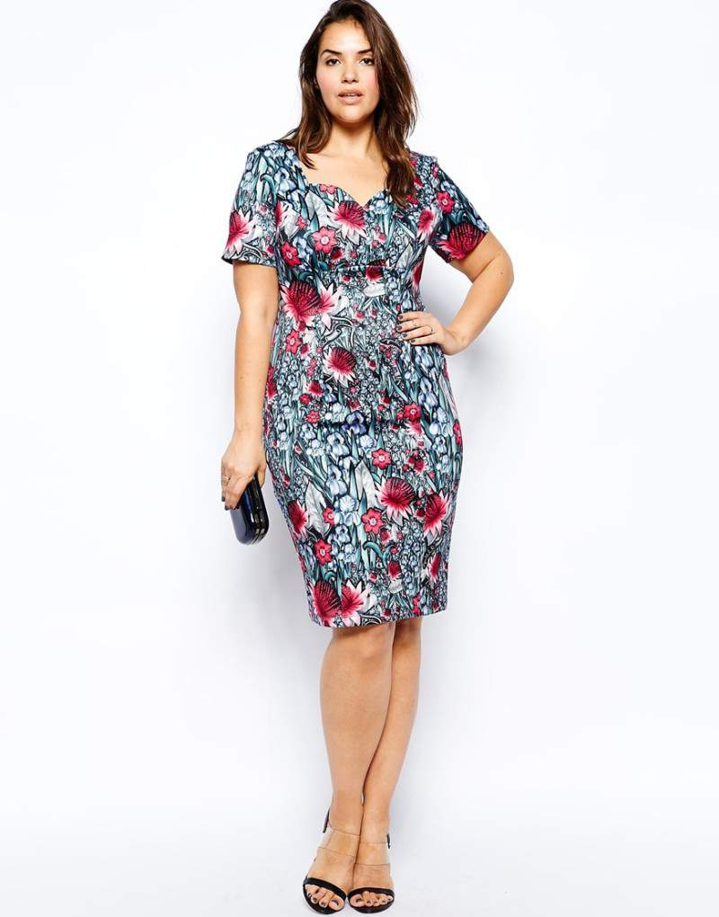 Look #2 ASOS Curve Pencil Dress