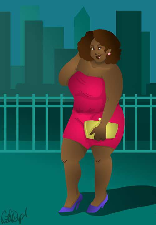Plus Size Art of Eva Duplan Illustrations on The Curvy Fashionista