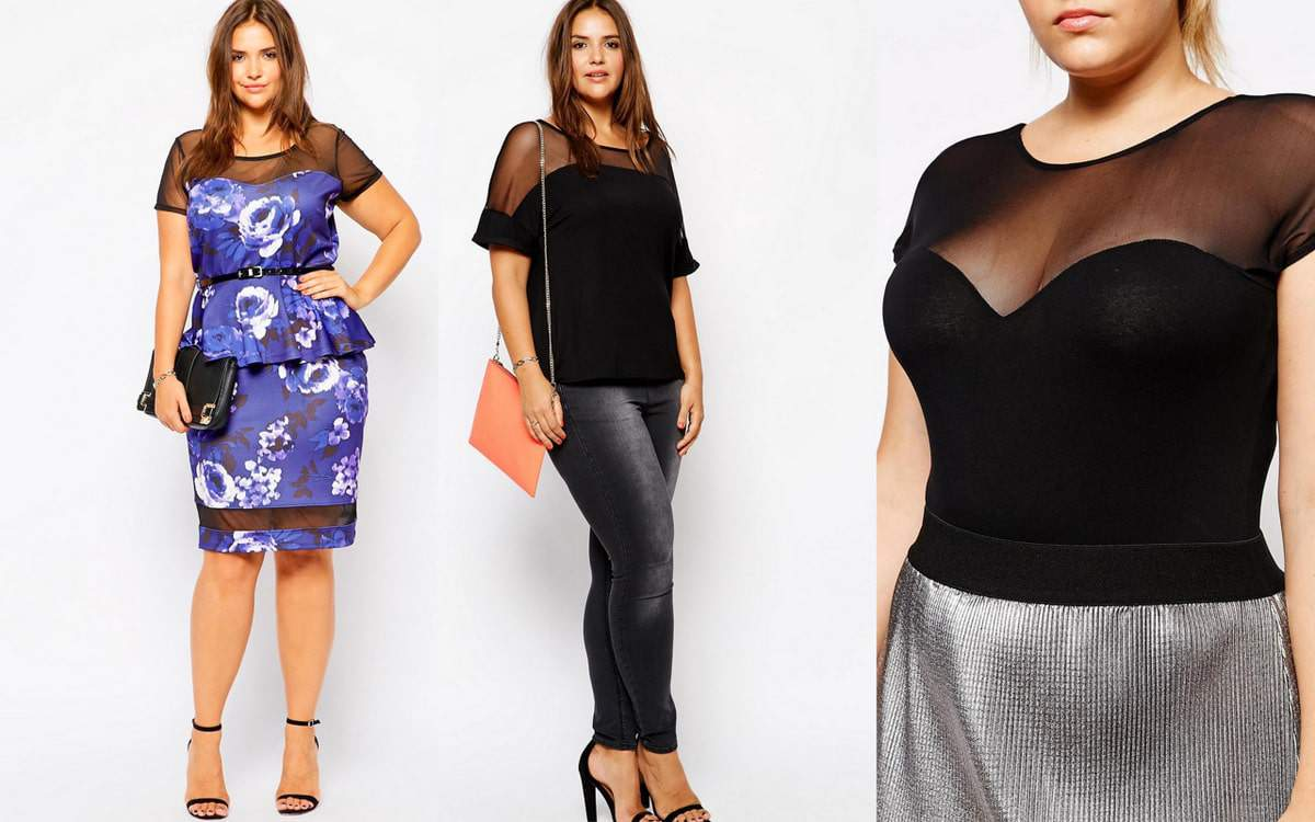 Plus Size Fashion Tips: How To Wear The Mesh Trend