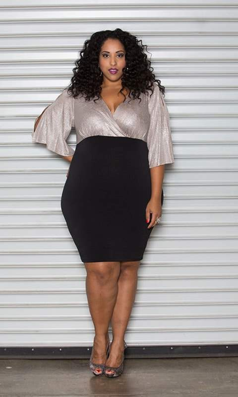 Plus Size Retailer Sealed With a Kiss Launches Size Appeal- Size Appeal Melinda Metallic Dress