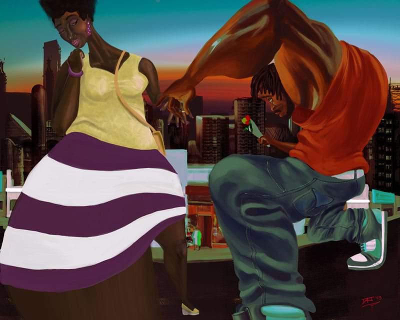 "Plus Size Artist Spotlight: David ""Moko Jumbie"" James"