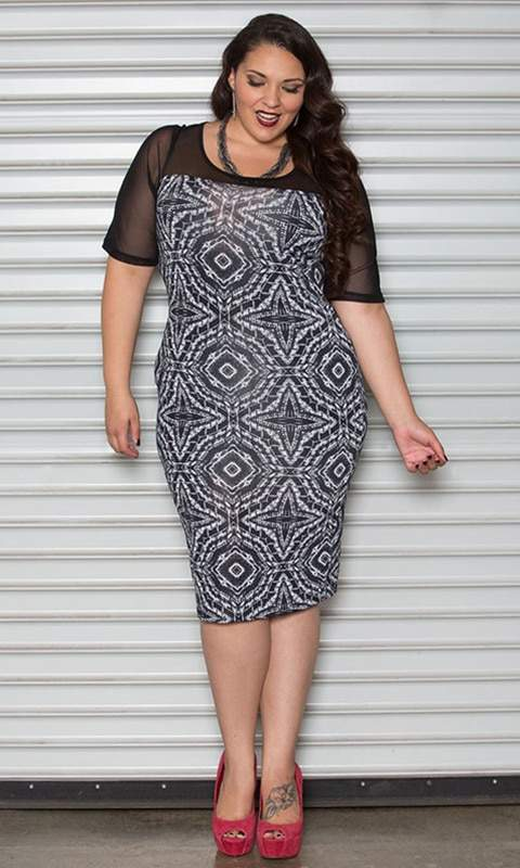 Plus Size Retailer Sealed With a Kiss Launches Size Appeal- Size Appeal Carmen Printed Dress