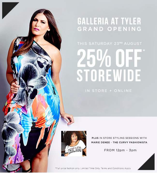 Join me THIS SATURDAY at the Galleria at Tyler City Chic Grand Opening