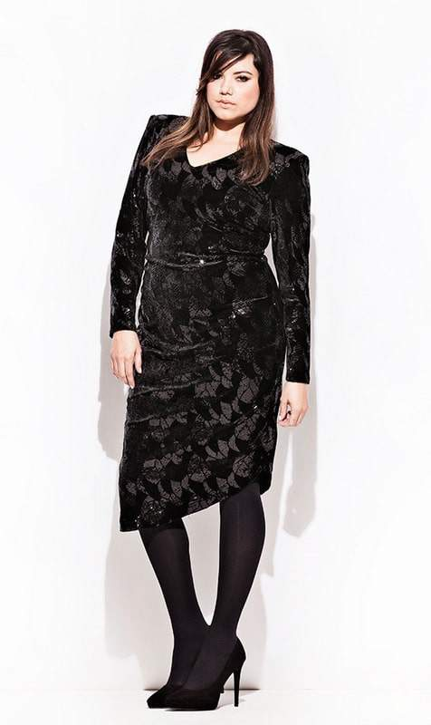 CarmaKoma Antarctica Plus Size Sequins Dress