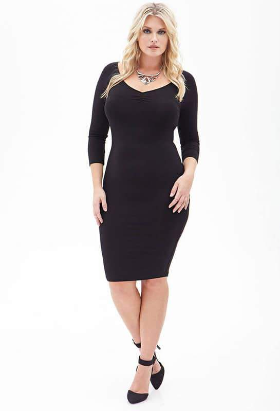 Ruched Pencil Dress by Forever 21