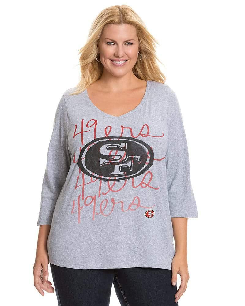 Lane Bryant NFL Plus Size 49ers Tee