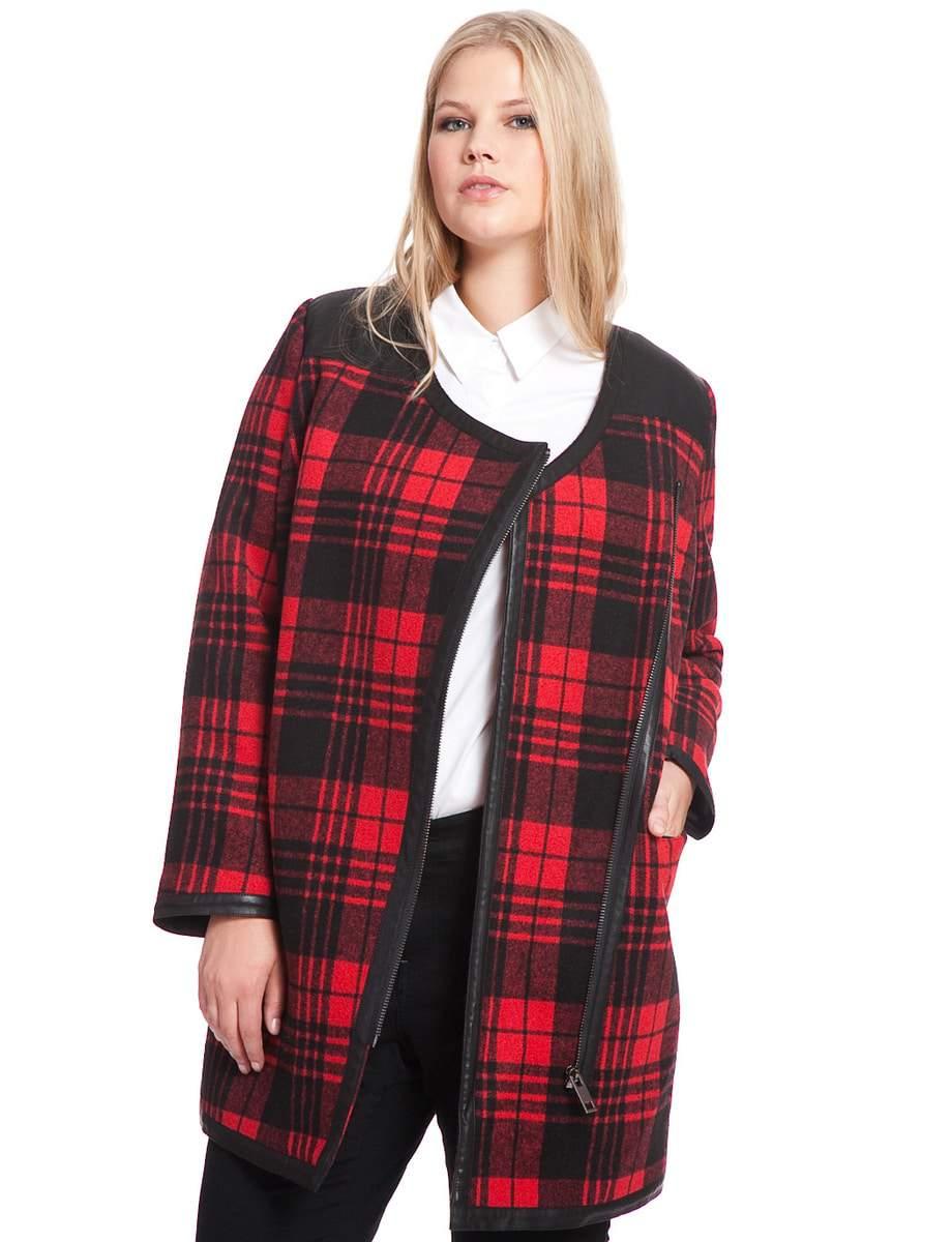 Eloquii Tartan Plaid Jacket