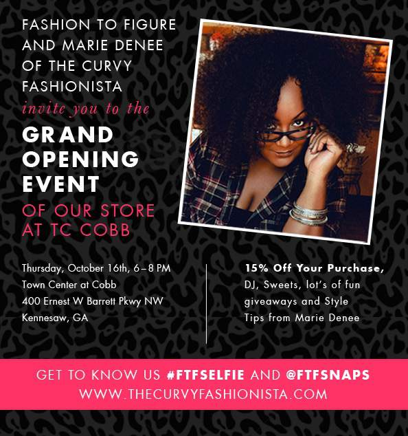 #ATLANTA SAVE THE DATE! 10/16 Let's Hang with Fashion to Figure!
