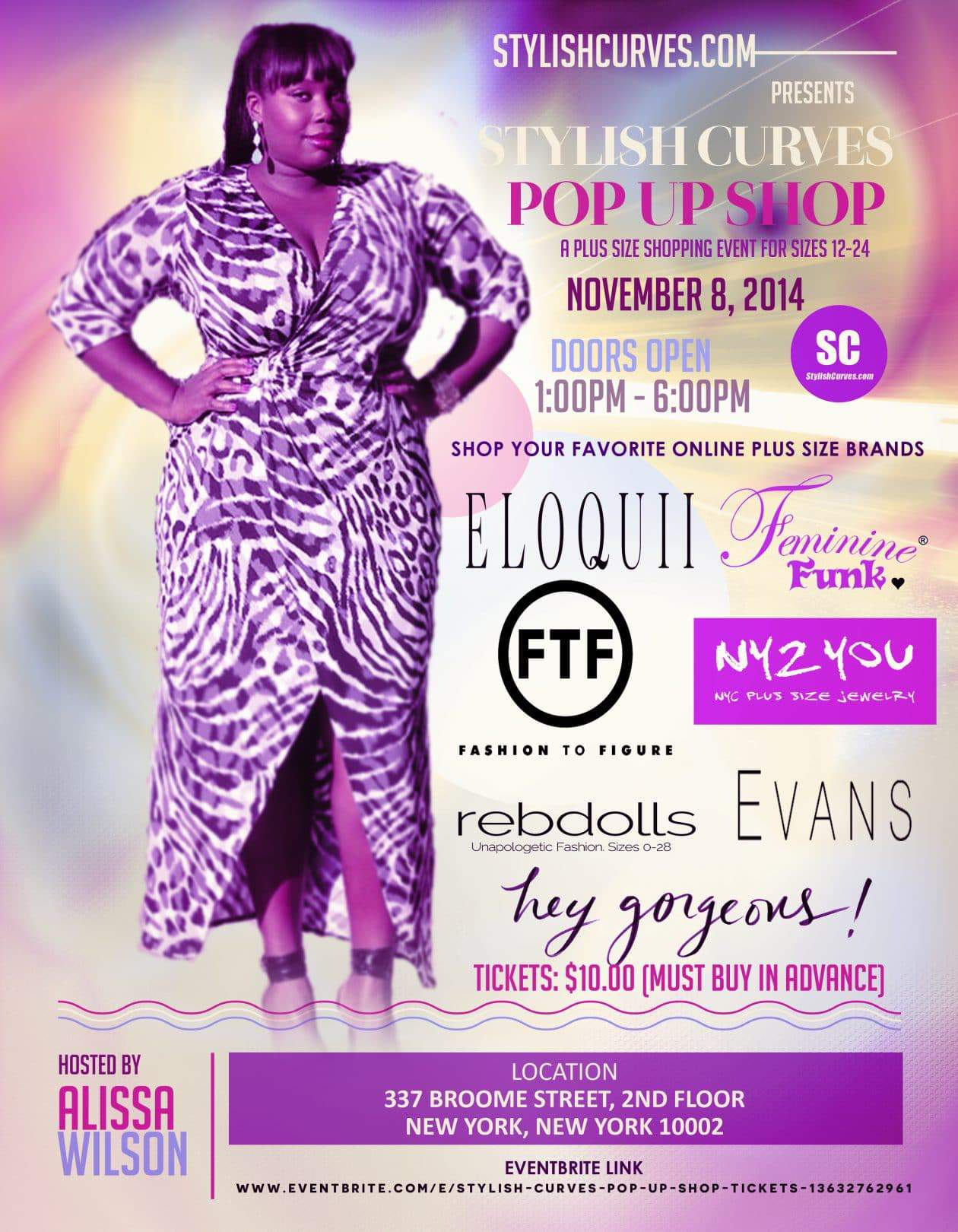 COOL NEWS: NY Plus Size Blogger, Alissa Launches the Stylish Curves Pop Up Shop