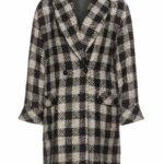 Navabi Verpass Black and White Plaid Coat