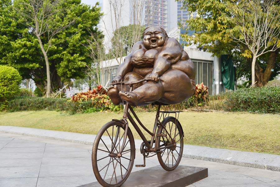 Xu Hongfei Captures Joy in 'Chubby Women' Sculptures