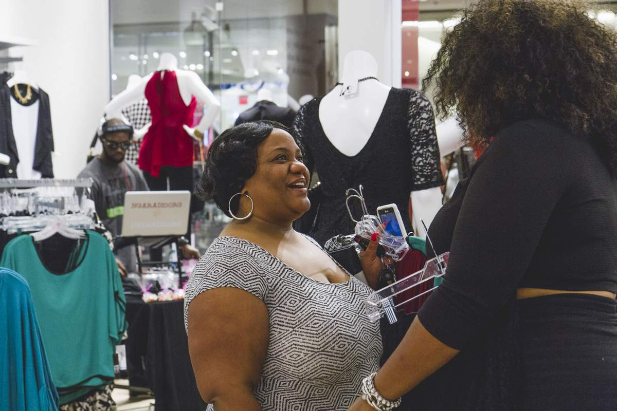 TC at Cobb Fashion to Figure Grand Opening