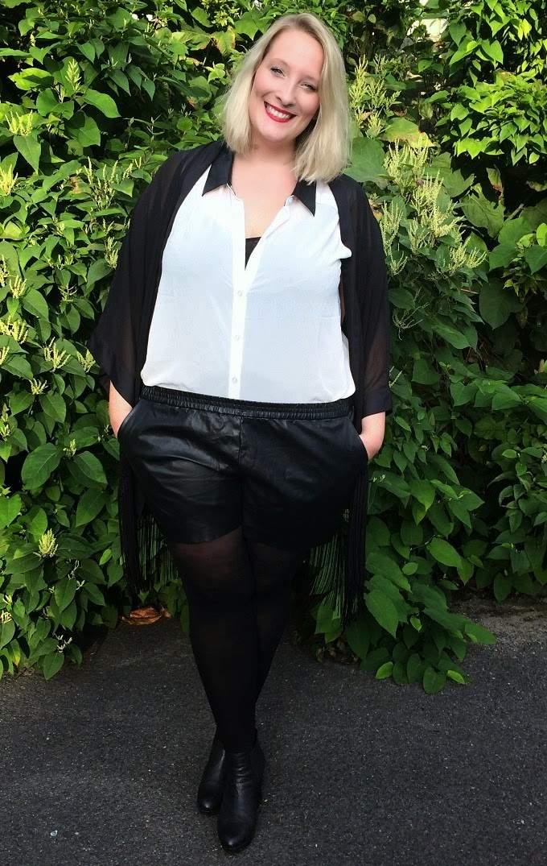 lisa mosh plus size fat girl leather