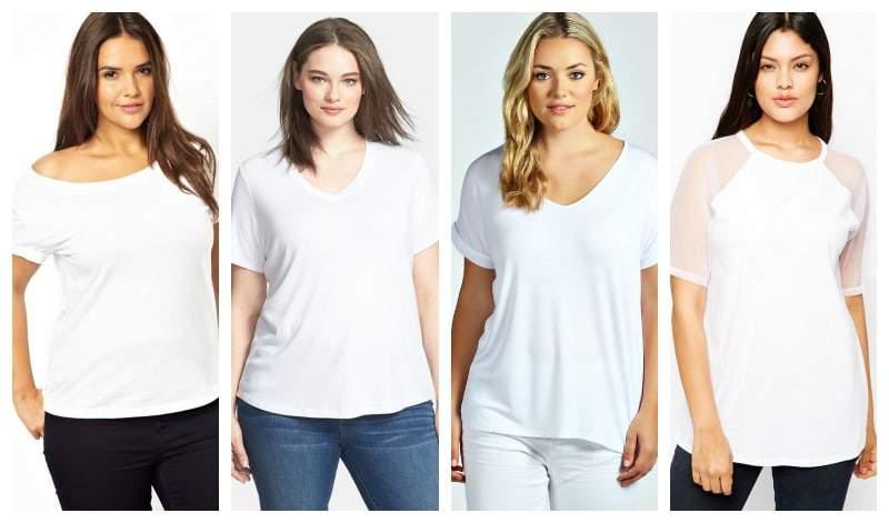 Short sleeve White plus size tees