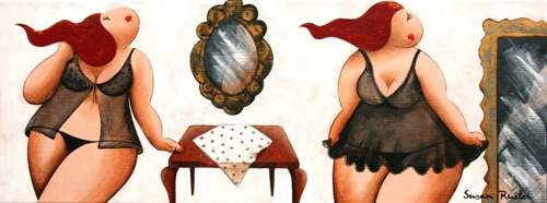 Plus Size Art: Susan Ruiter Paintings featured on the Curvy Fashionista