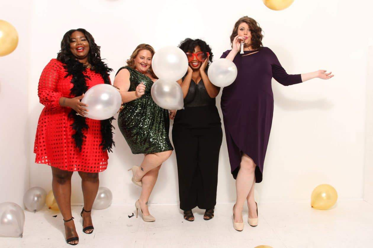 Kelly Augustine (and Friends) Shows Us Plus Size Holiday Dress Style with Rent The Runway