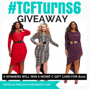 TCFTurns6 Giveaway with Monif C Plus Sizes
