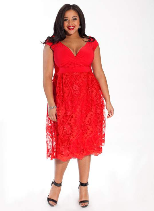 adelle red lace dress from igigi