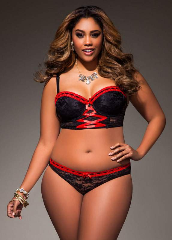 All Over Lace Longline Bra and Panty