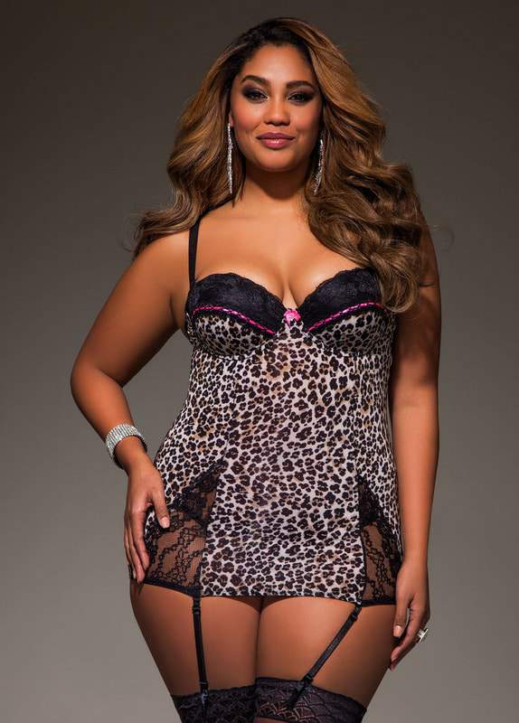 Animal Print and Lace Baby Doll