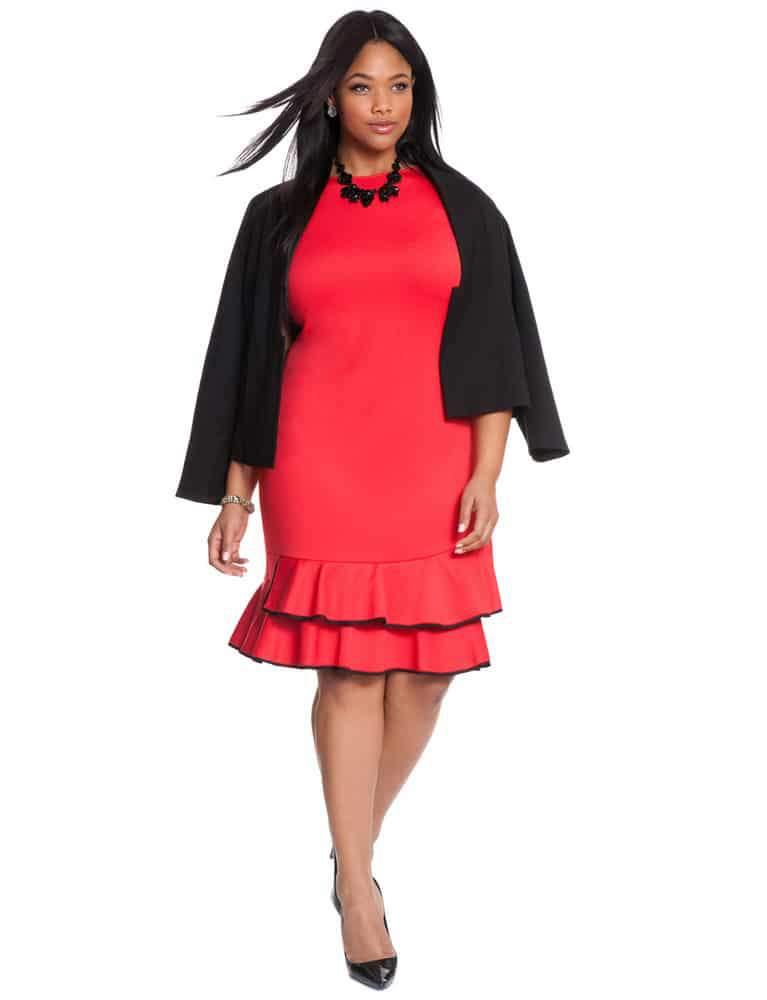 Eloquii Studio Double Flounce Dress