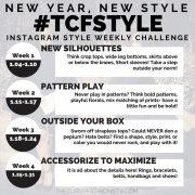 Join the #TCFStyle January Instagram Photo Challenge