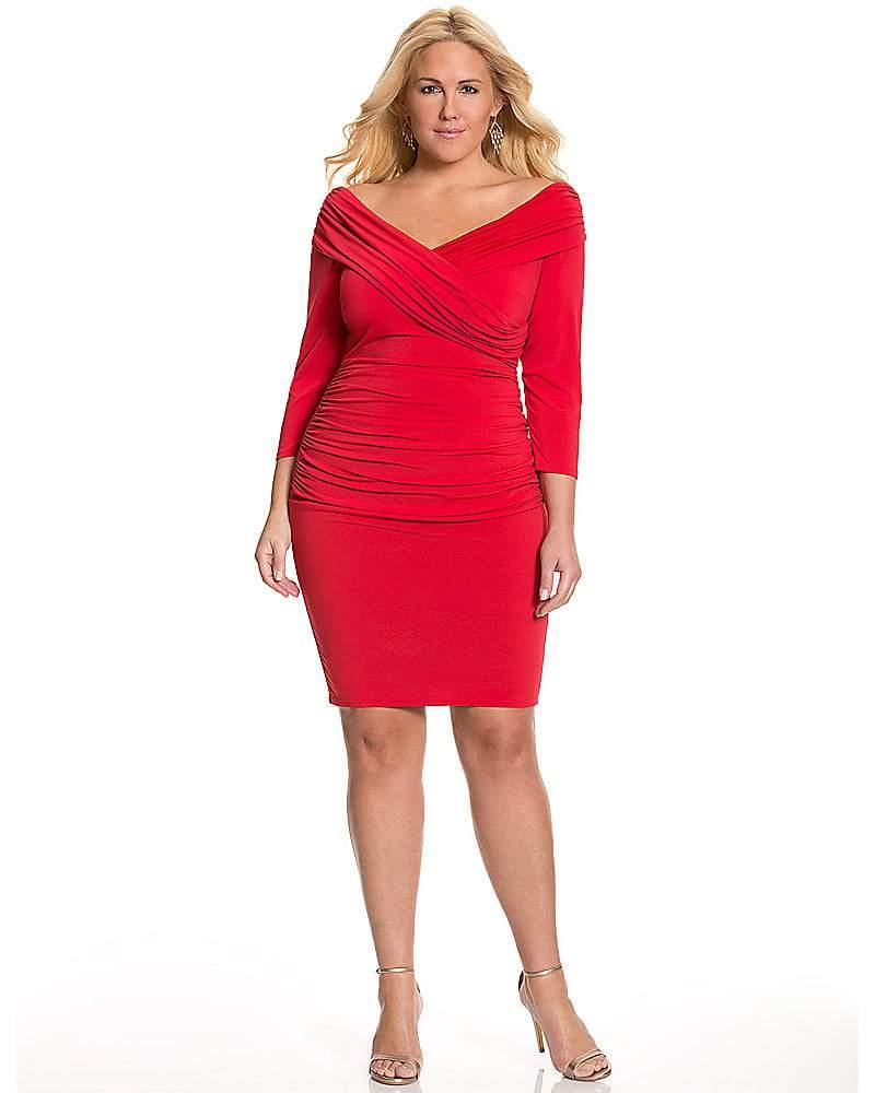 Lane Bryant Portrait Collar Dress