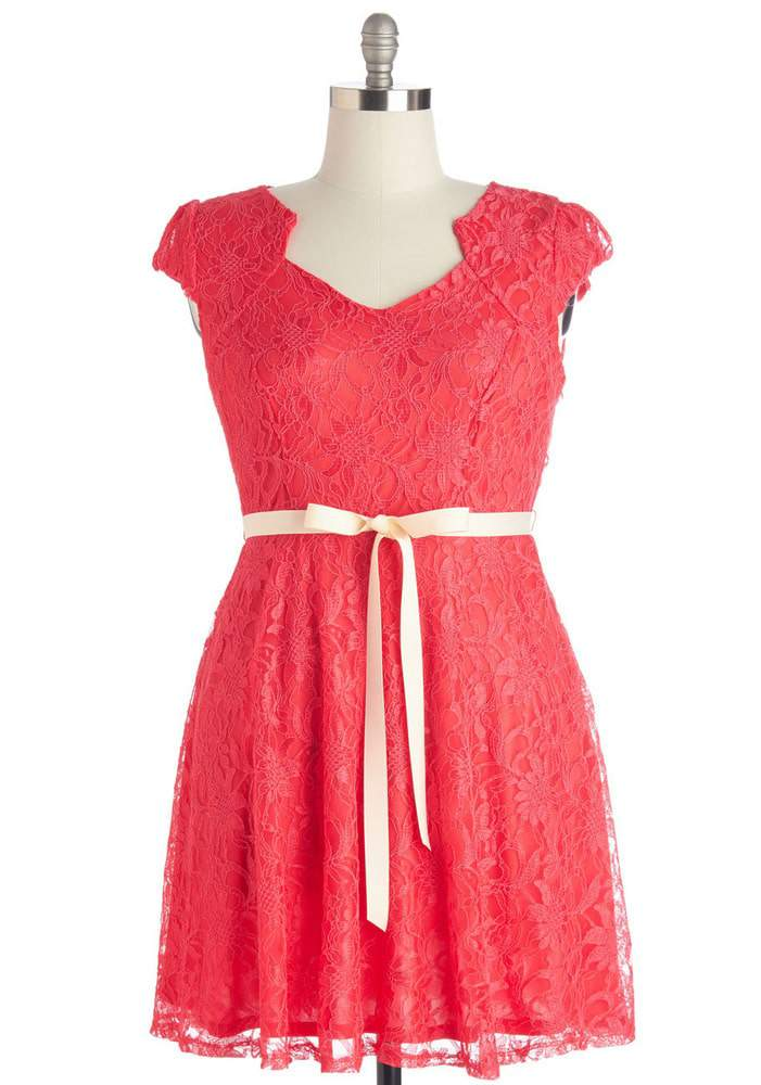 Modcloth Sweet Staple Dress in Scarlett