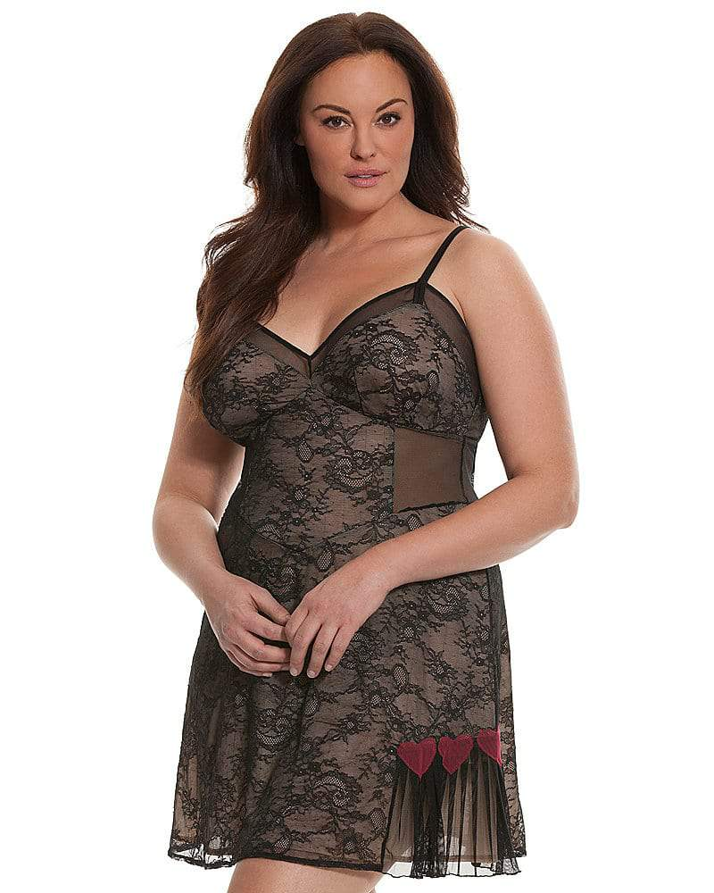 Lace Heart Chemise by Sophie Theallet at LaneBryant
