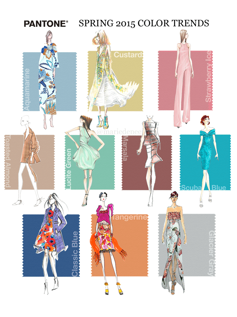 Trending: Pantone's Spring 2015 Color Trend Report on The Curvy Fashionista