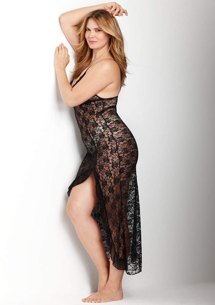 Luxe High Low Long Lace Chemise