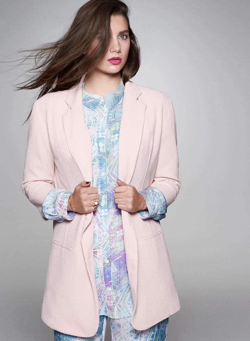 Cut for Evans Pink Jacket