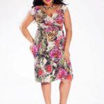 Dakota Plus Size Dress in Rose Garden on TheCurvyFashionista.com