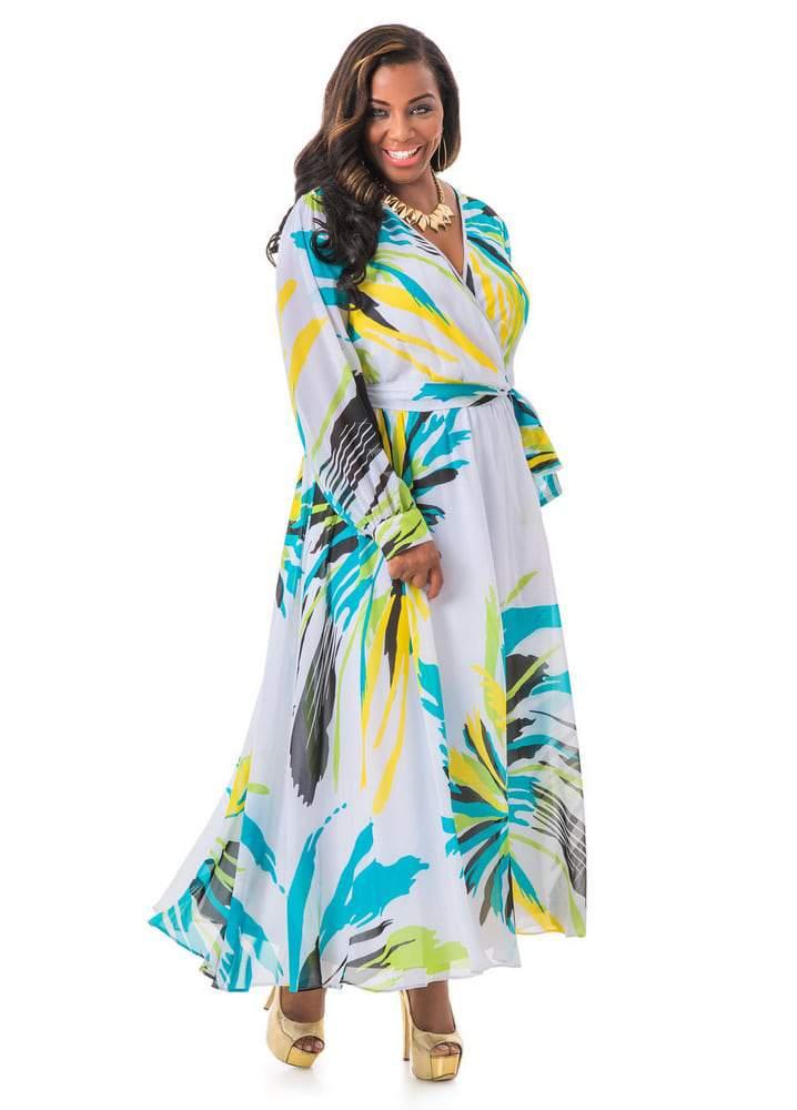 Floral Chiffon Maxi Dress on TheCurvyFashionista.com