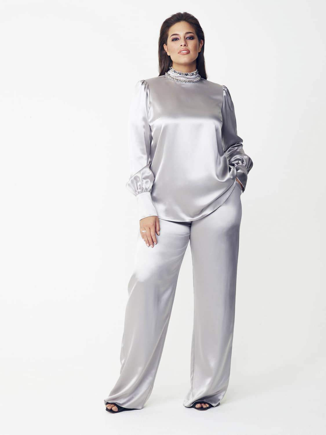 Giles Deacon Top and Pant by Evans on TheCurvyFashionista.com