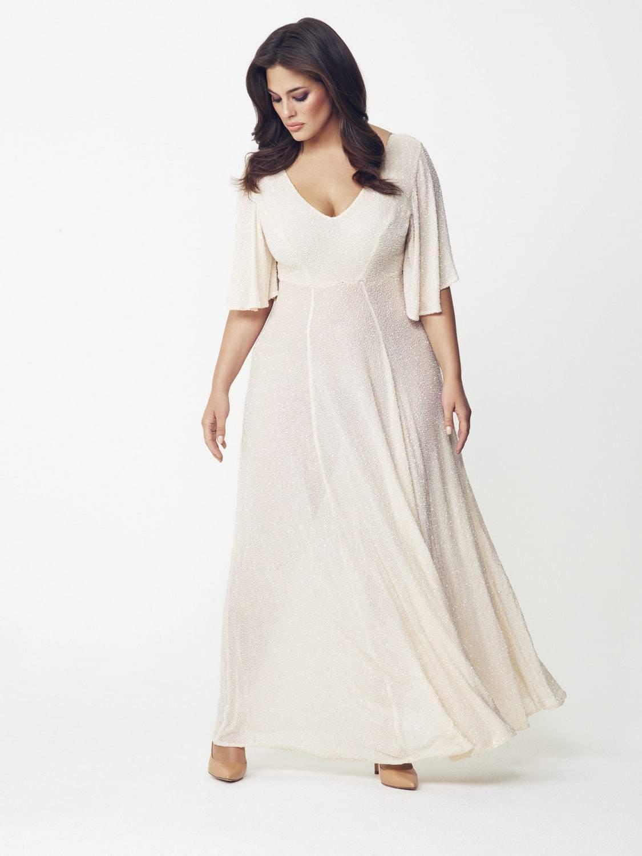 Hema Kaul Cream Dress by Evans on TheCurvyFashionista.com