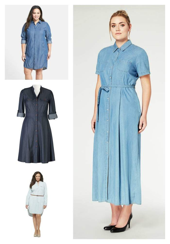 Spring 2015 Plus Size Denim Shirtdresses