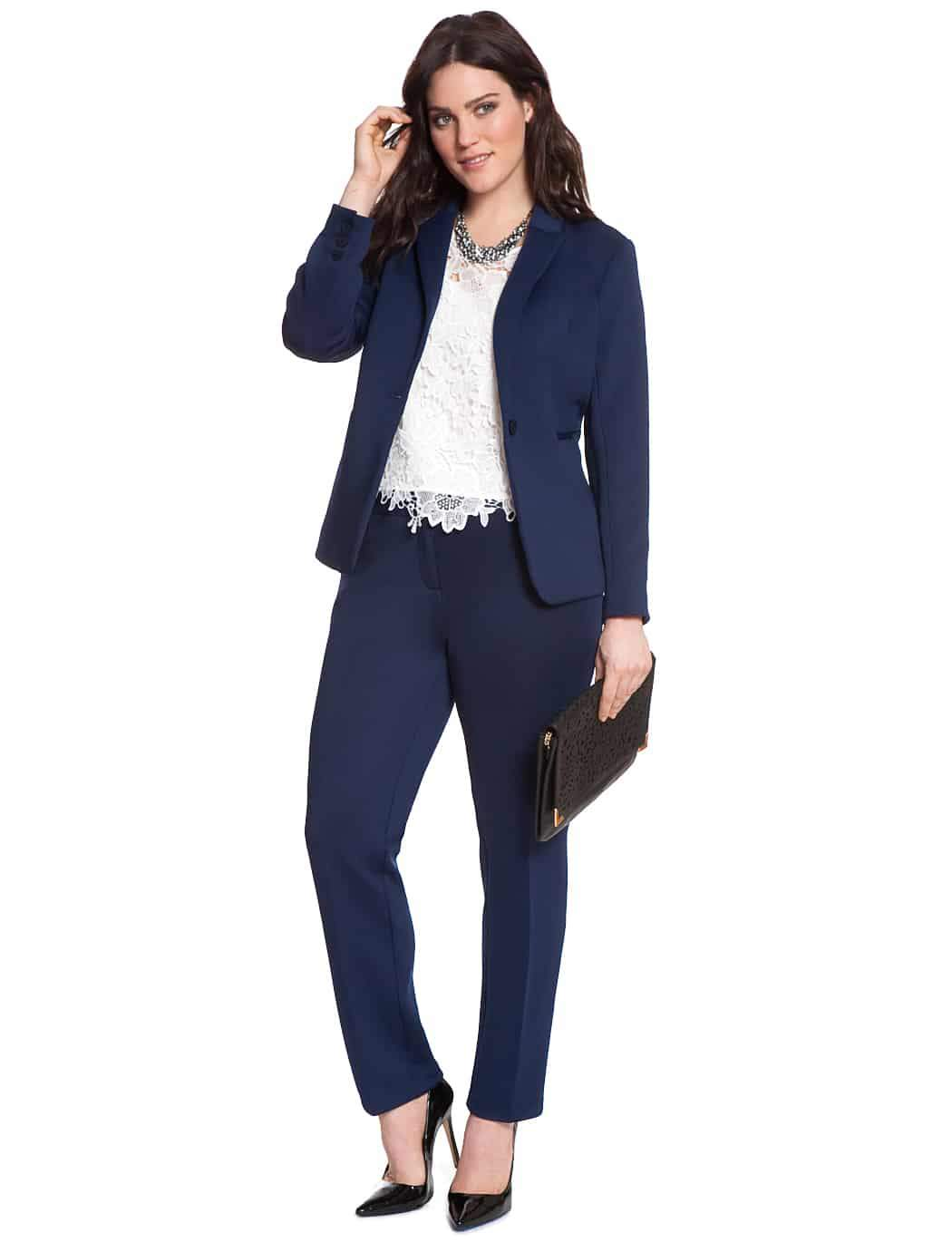 Spring 2015 Plus Size Tailored Suiting