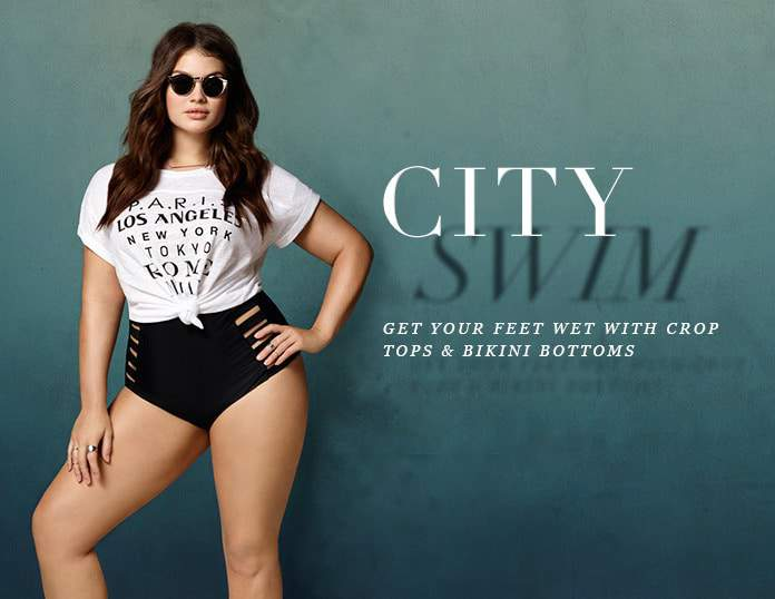 Forever 21 Plus Size City Swim Look Book