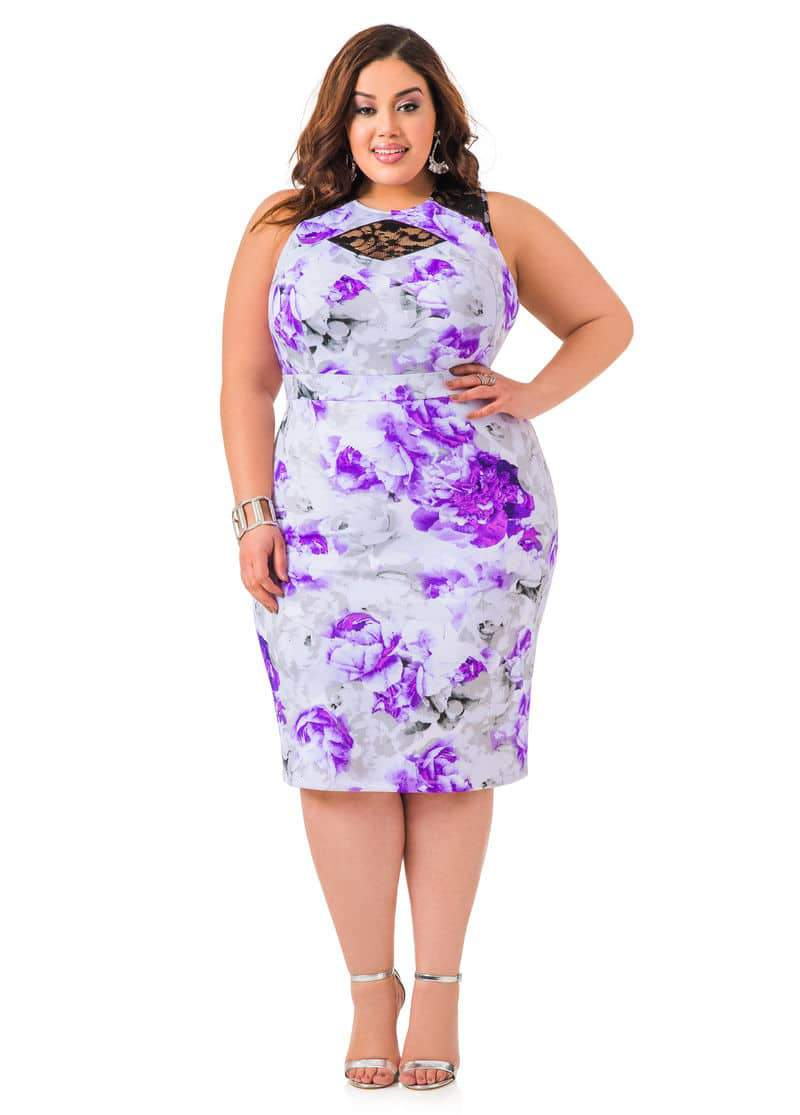 Tcfstyle find 10 plus size wedding guest dresses for Plus size midi dresses for weddings