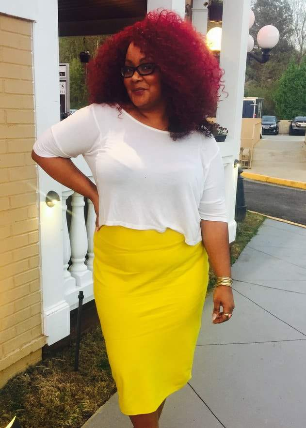 Marie Denee in Jibri Skirt on TheCurvyFashionista.com #TCFStyle