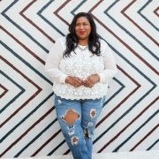 Plus Sze Blogger Spotlight- Kellie B from And I get Dressed via TheCurvyFashionista.com #TCFStyle