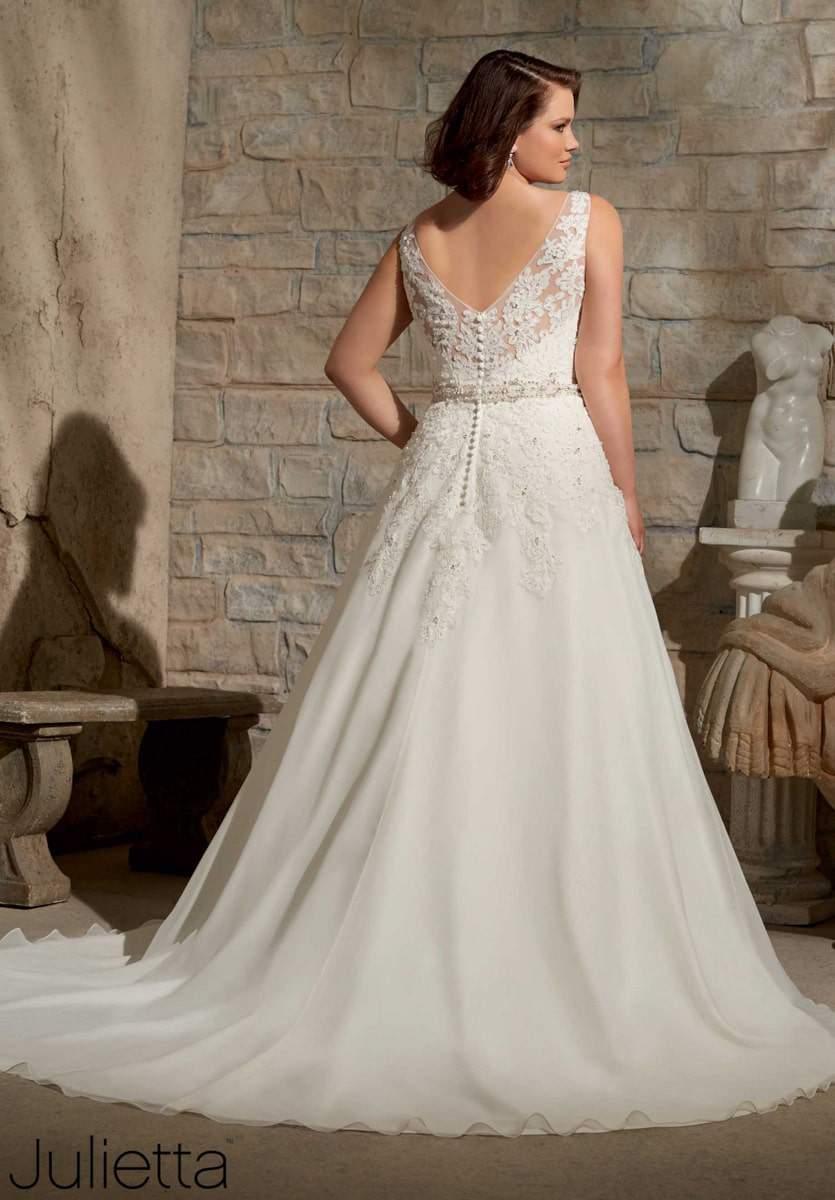 Plus Size Bridal Designer Julietta by Mori Lee on TheCurvyFashioninsta.com #TCFStyle #PlusSizeBride