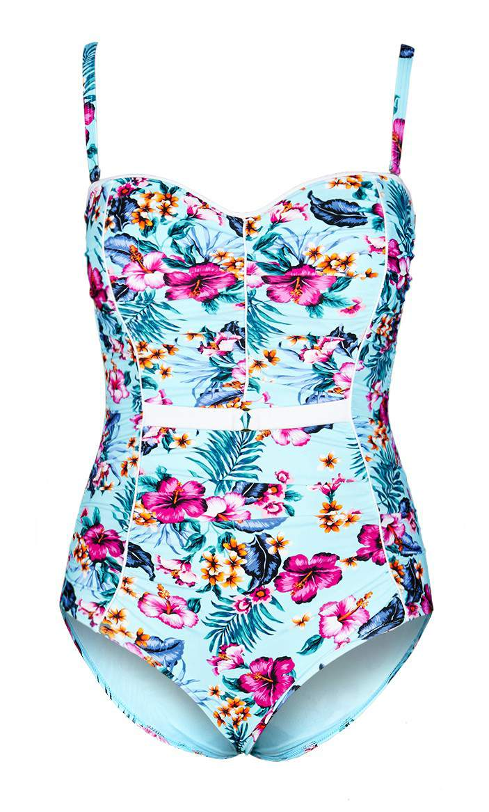16 Fancy One Piece Plus Size Bathing Suits to Play In on TheCurvyFashionista.com