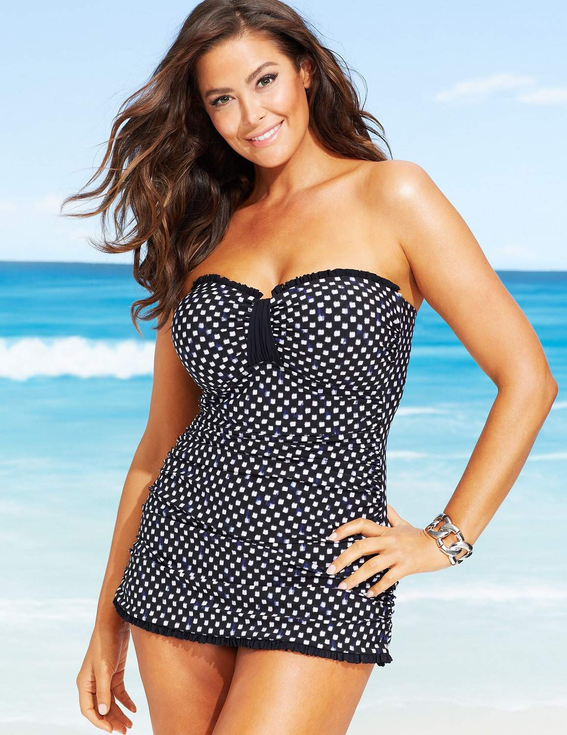 16 fancy one piece plus size bathing suits to play in | the curvy