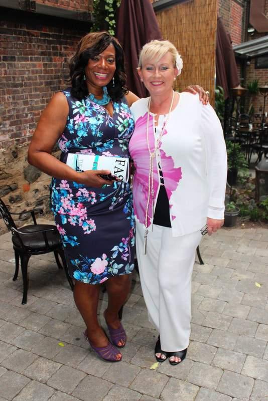 Evie Foster EIC of DeVoe Magazine  with Gwen DeVoe