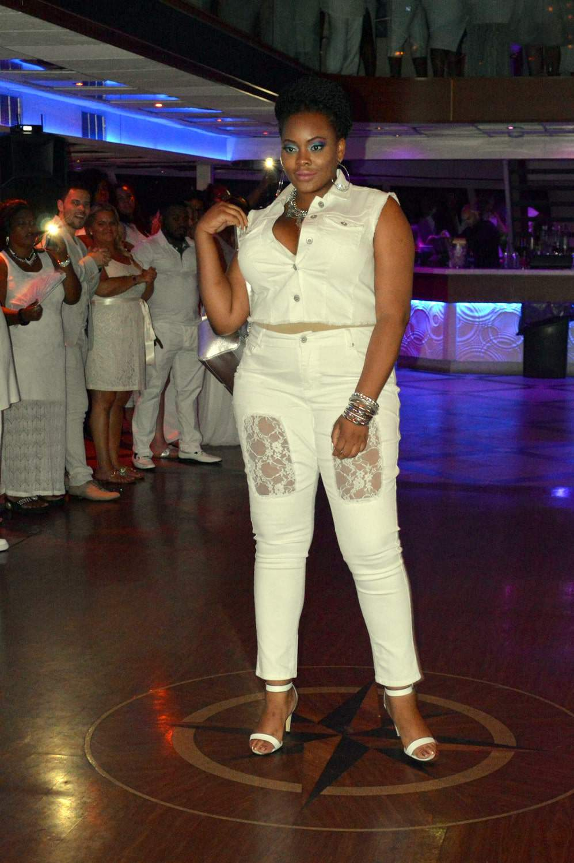 Ashley Stewart Fashion Show on the Curves at Sea All White Cruise