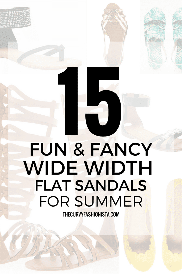 15 Fun & Fancy Wide Width Flats for Summer On The Curvy Fashionista