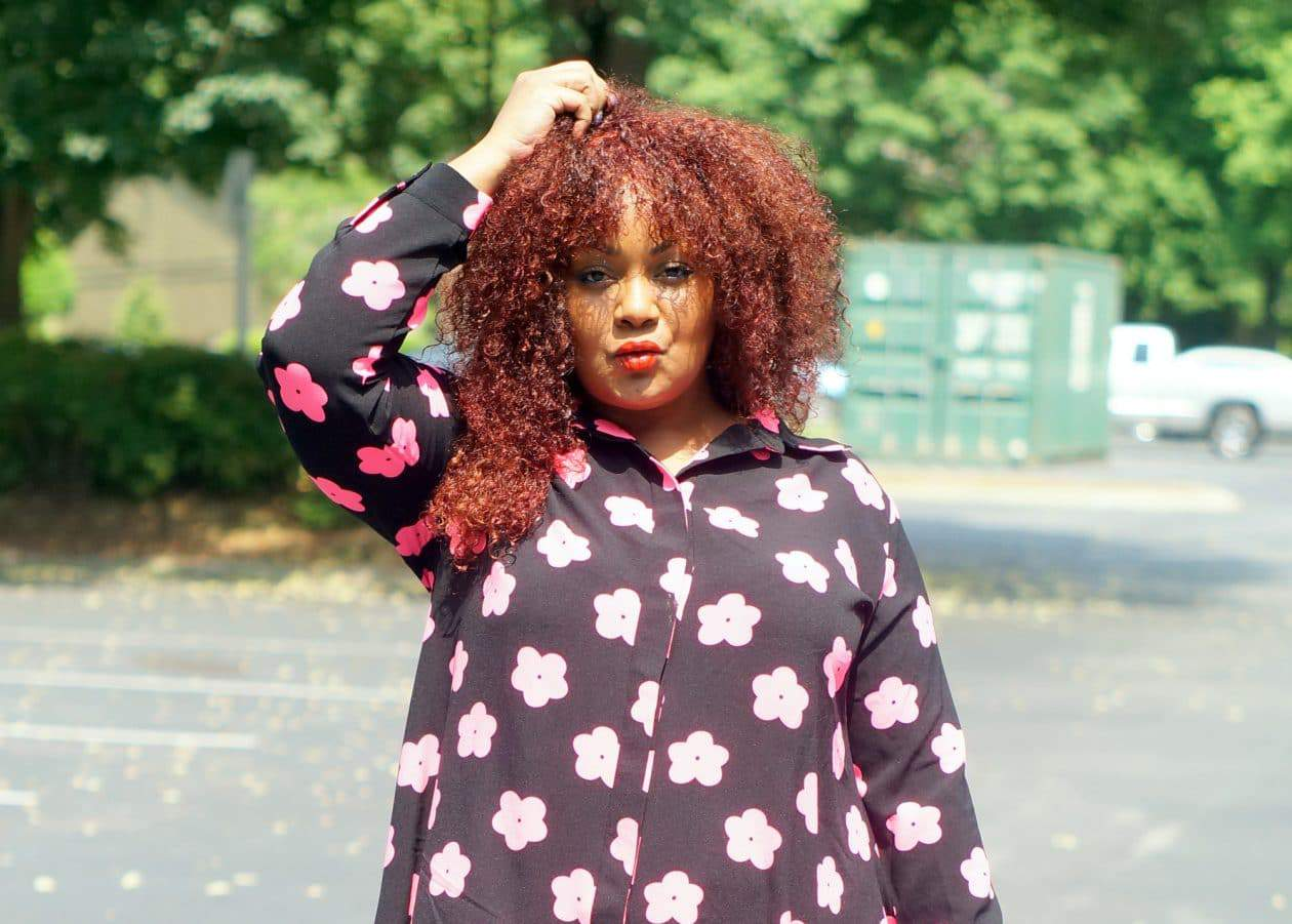 AX Paris Neon Daisy Plus Size Shirtdress from Simply Be on The Curvy Fashionista #TCFStyle