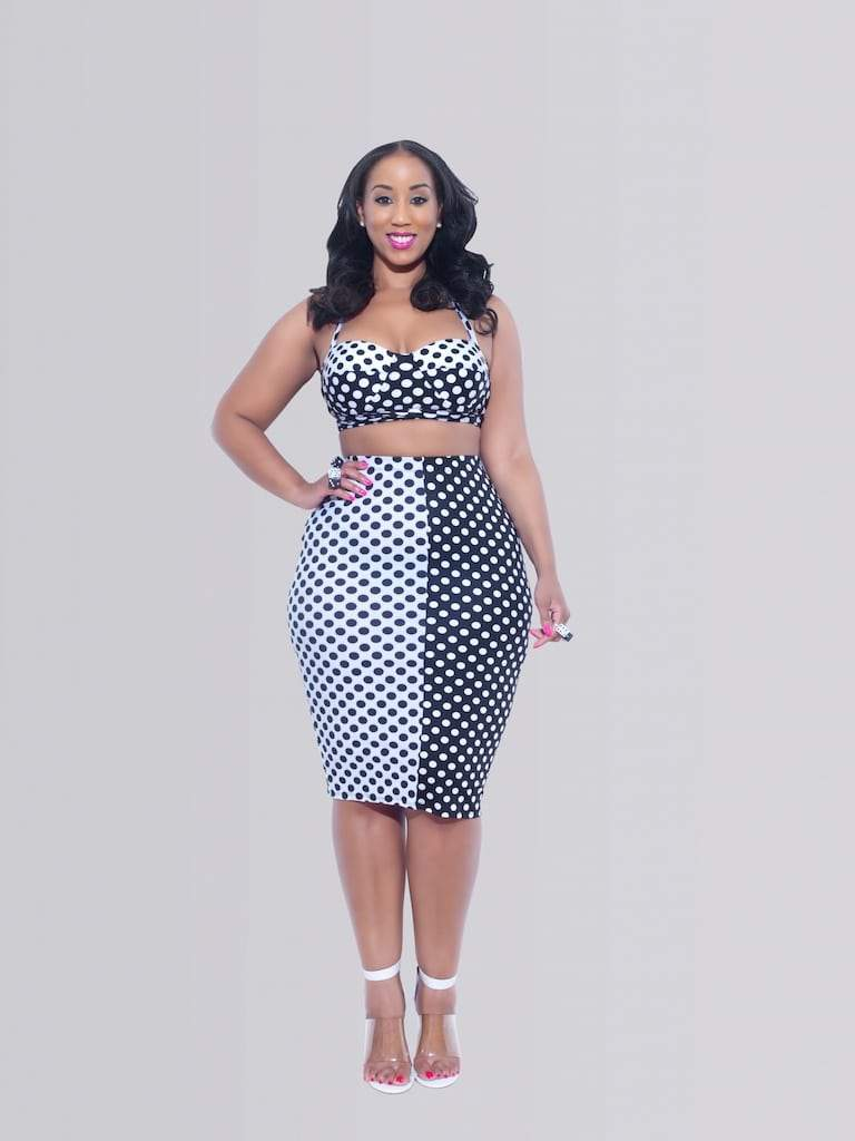 Curvy Fashionista Black Polka Dot Dress The Curvy Fashionista First